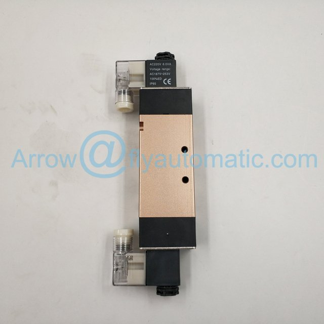 "4V420-15 1/2"" Airtac 5/2 Way 4V400 Series Double Coil Solenoid valve"