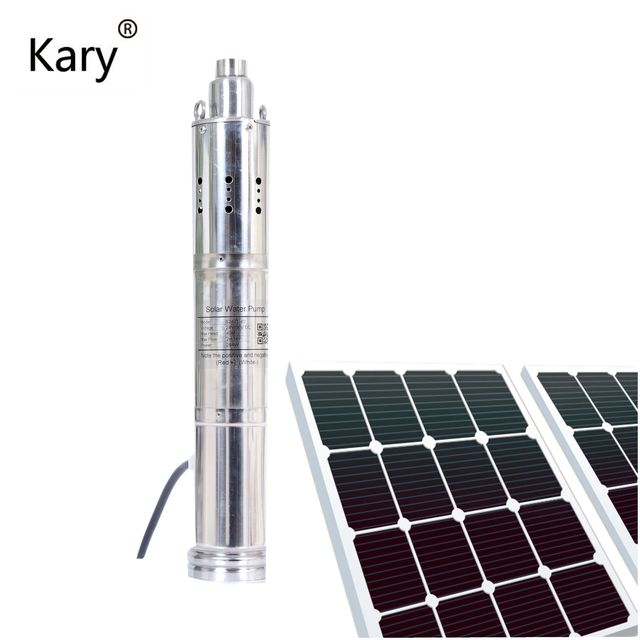 Kary Great&wonderful 3 inch 24v submersible water pumps 1.28 inch outlet dc solar bore irrigation pump max 40m lift