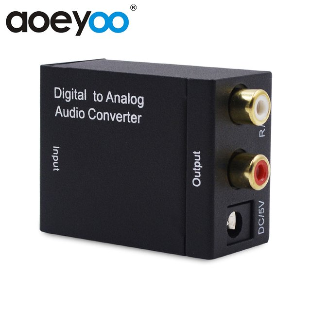 AOEYOO Conversor Digital to Analog Audio Converter Adapter Optical Toslink Spdif to Coaxial Audio RCA with Optical Cable