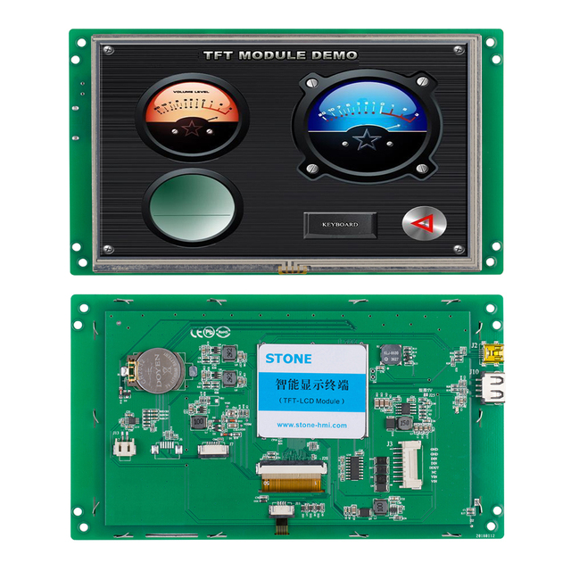"""LCD Display Module 7"""" 800*480 With CPU MCU For Home Control System"""
