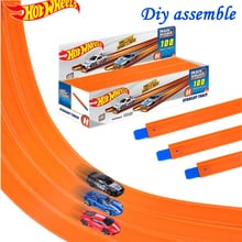 120cm Hot Wheels Track Variable Assembly Extension Accessories Straight Track Connector Slide Track DIY Extension Kids Toys