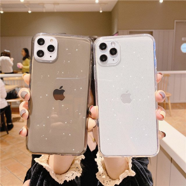Bling Soft Silicone Cases For iPhone 11 Pro Max Case iPhone X Xs Max XR 6 6S 7 8 Plus Cover Transparent Glitter TPU Phone Cases