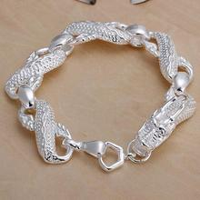Wholesale hot men women chain silver color plated bracelets noble Dragon party party fashion jewelry Christmas gifts JH036