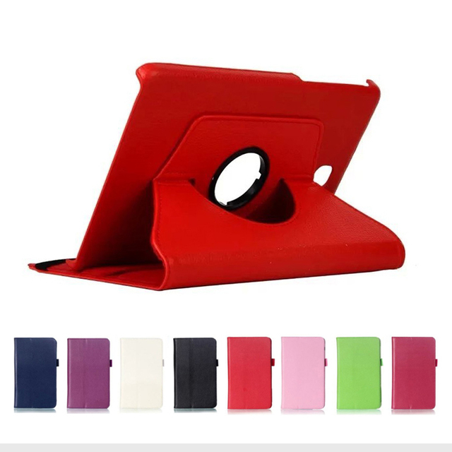 """Litchi Pattern For Samsung Galaxy Tab A T350 Stand PU Leather Cover Case for Samsung Galaxy Tab A 8.0 T350 T355 8"""" Tablet Case"""