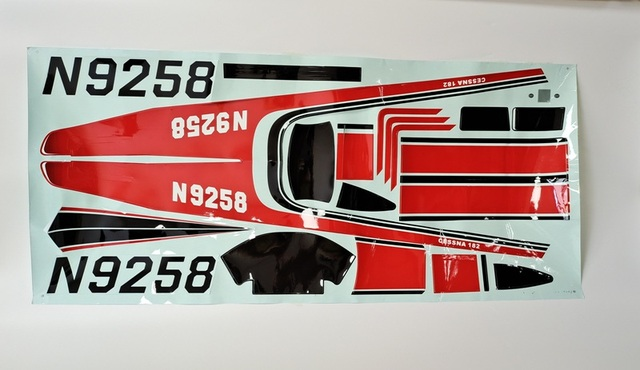 Original 1400mm Cessna 182 EPO V1 Sticker