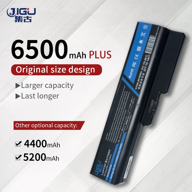 JIGU Laptop Battery 51J0226 57Y6266 57Y6527 57Y6528 ASM 42T4586 42T4728 FRU 42T4585 42T4727 L06L6Y02 L08L6C02 for IBM Lenovo