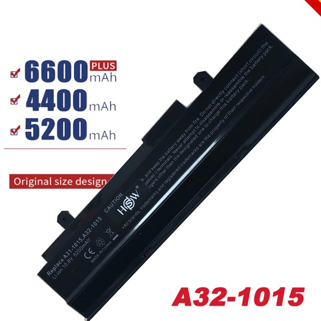 New Replacement Battery A32-1015 for ASUS Eee PC 1015 1015PEM 1016 1215 1215N 6 Cell, Free Shipping