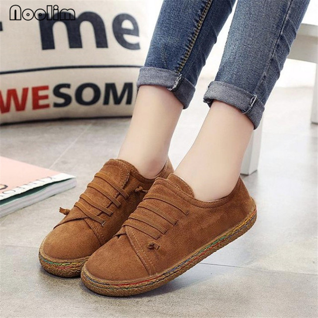 Fashion Solid Color Spring Women Flats Shoes Loafers Round Toe Soft Bottom Slip On Ladies Flat Casual Shoes Women Oxford Shoes