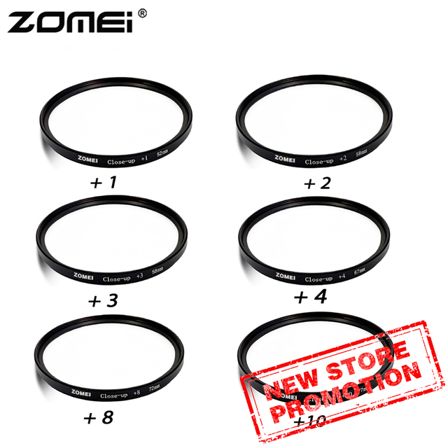 ZOMEI 40.5/49/52/55/58/62/67/72/77mm Close-up +1+2+3+4 Lens Filter Kit For DSLR Camera