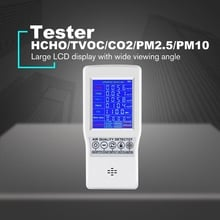 TOP Digital LCD Formaldehyde Detector HCHO/TVOC/CO2/PM2.5/PM10 Tester AQI Air Quality Monitor Gas Analyzer