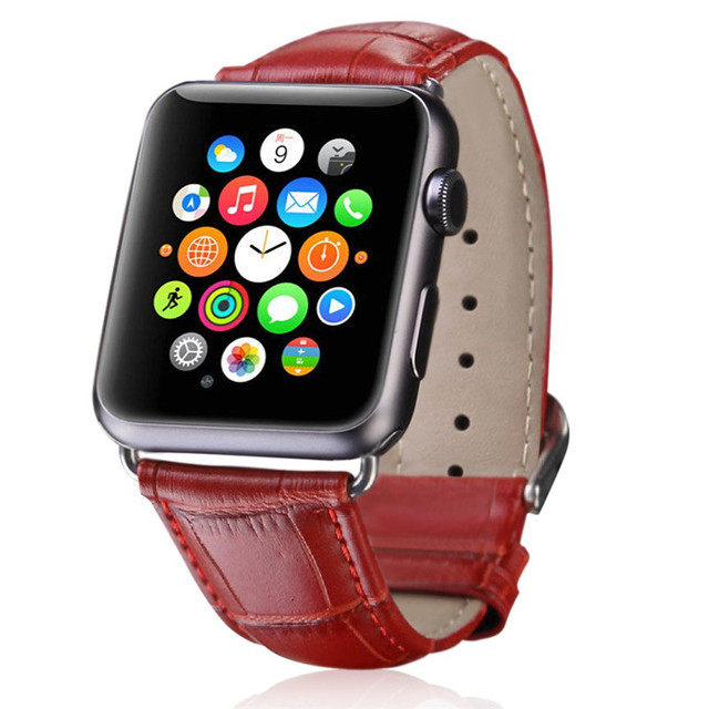 Band for apple watch 5 4 3 2 1 Lether Strap For Apple Watch 42mm 38mm leather Band Loop Strap for apple watch Band 44 mm 40mm