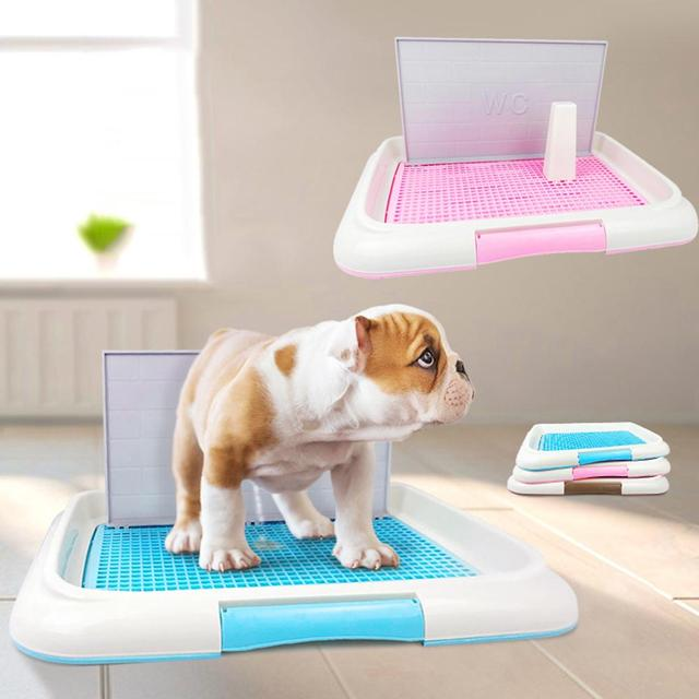 Pet Dog Litter Box Column Mesh Indoor Dog Toilet Training Tray Cleaning Accessories Doggy Pee Training Toilet For Pet Supplies