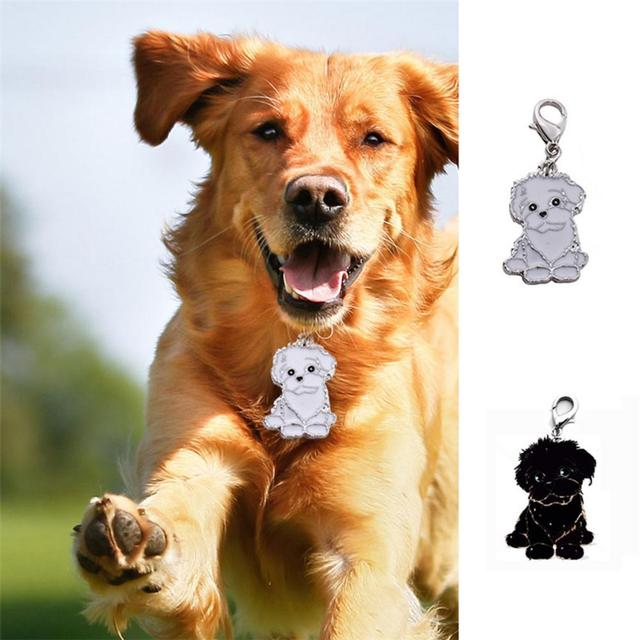 Medium And Large Dog Identity Card Dog Metal Medal Necklace Pet Anti-lost Bichon Frise Dog Tag