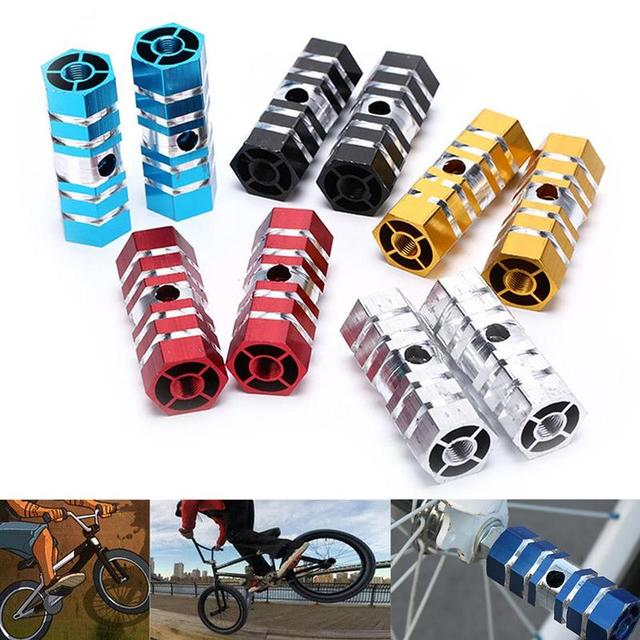 1Pair Foot Stand Stunt Peg BMX Bicycle Front Rear Wheel Axle Cylinder Pedal Bike
