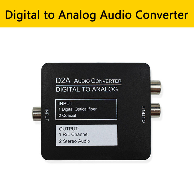 Toslink Coaxial Optical Fiber Digital to Analog Converter 3.5MM Jack RCA Amplifier Decoder Optical  SPDIF Coaxial Stereo Adapter