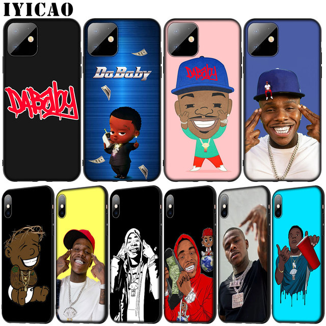Rapper DaBaby Soft Silicone Cover Case for iPhone 11 Pro XR X XS Max 6 6S 7 8 Plus 5 5S SE Black Phone Case