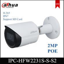 Dahua 2MP Camera WDR IR Bullet Network IP Camera Support POE and Rotation ModeI IPC-HFW2231S-S-S2 H.265 IP67 protection