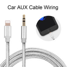 1M for Lightning To AUX Cable Car Converter 3.5mm Jack Male Cable Headphone Aux Line Earphone Audio Adapter for IPhone IPad IOS