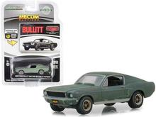 GL 1:64 1968 Ford Mustang GT Fastback Green alloy model Car Diecast Metal Toys Birthday Gift For Kids Boy