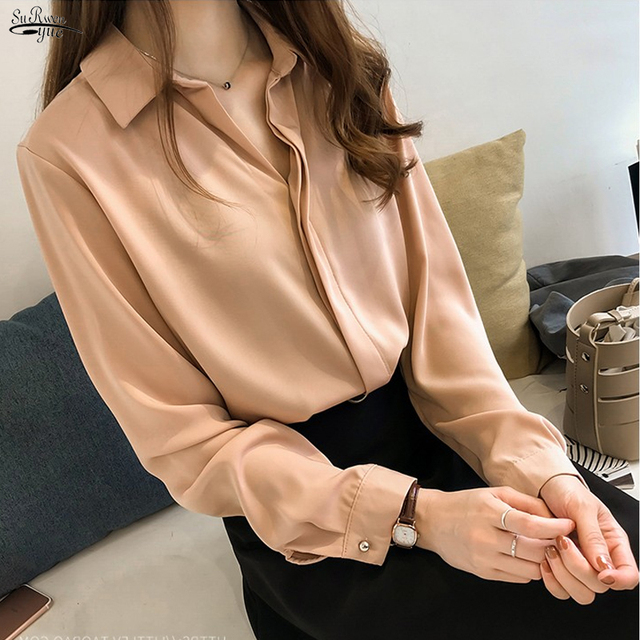 Blusas Mujer 2021 Autumn New Women Clothes Long Sleeve Plus Size Solid Blouse Women Casual Vintage Cardigan Women Shirt 7726 50