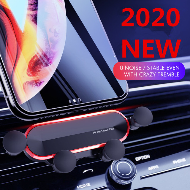 2020 Gravity Car Phone Holder Air Vent Clip Mount No Magnetic Mobile Support Cell Stand For iPhone 8 X Xiaomi Smartphone In Car