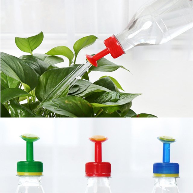 Color Random Bottle Plastic Convenient Bottle Cap Sprinkler Shower Nozzle Economic Sprinkler Water Plant Home Garden Flowerpot