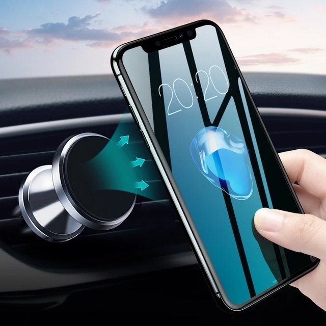 GETIHU Car Phone Holder Magnetic Air Vent Mount Mobile Phone Stand Magnet GPS Support  For iPhone 12 11 Pro  X Max Xiaomi HuaweI