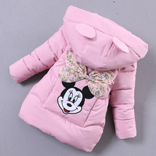 Minnie Parkas Girls Down Coats Children Clothing Boys Cartoon Mickey High Quality Parkas Vest Winter Hooded Warm Thick Jacket