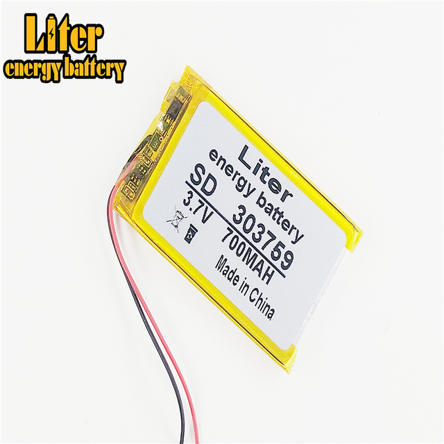 3.7V,700mAH,303759 Polymer lithium ion / Li-po battery for TOY,POWER BANK,GPS,mp3,mp4,cell phone,speaker