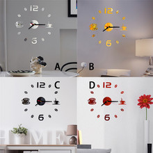 Feather Mirror Tiles Wall Stickers Self Adhesive Stick On Art Home Room Decal SP