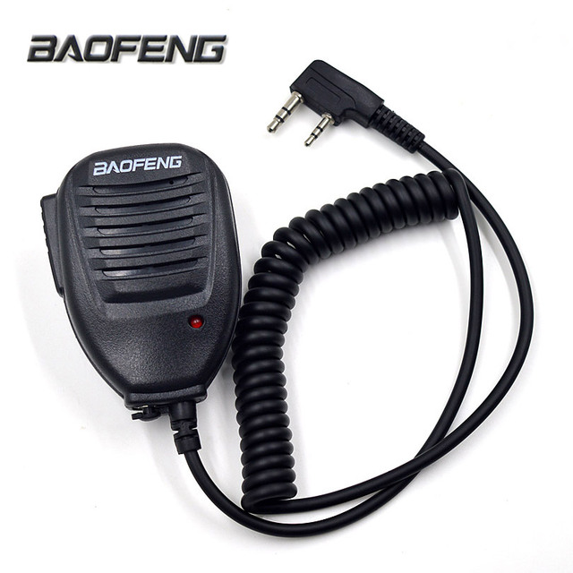 Original BAOFENG Speaker Mic Microphone for Portable Two Way Radio Walkie Talkie UV-5R UV-5RE Plus BF-888S UV-B5 UV-B6 GT-3 Mark