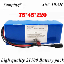 36V battery (built-in bms) 10ah 21700 rechargeable lithium battery pack for electric bicycle scooter free shipping