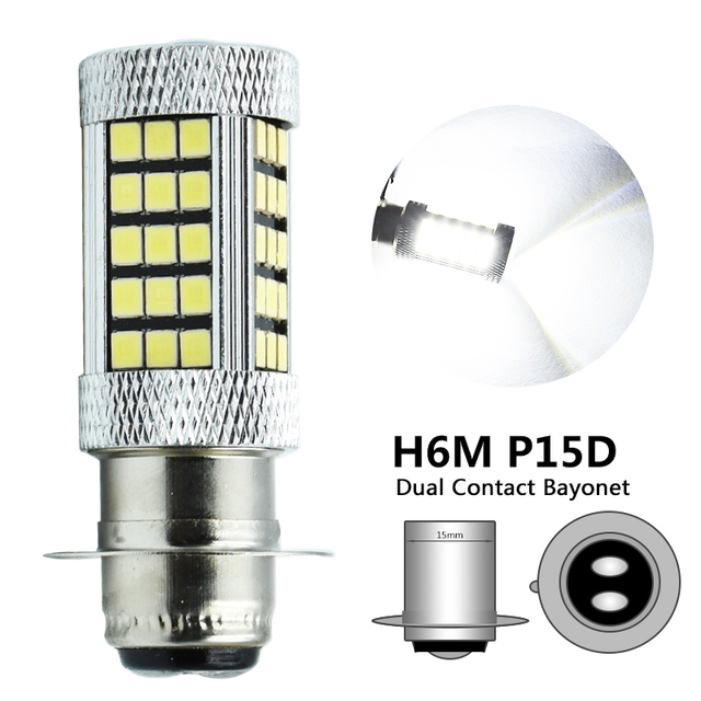 H6 Led Headlight H6M BA20D PX15D Motorcycle Use 10W 1000LM High Low Beam Motorbike Headlight Fog Light Bulb 1Pcs Super bright