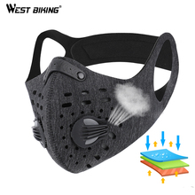 WEST BIKING N95 Antiviral Bicycle Face Mask With Filter Activated Carbon Running Cycling Anti-Pollution Anti Dust Bike Face Mask