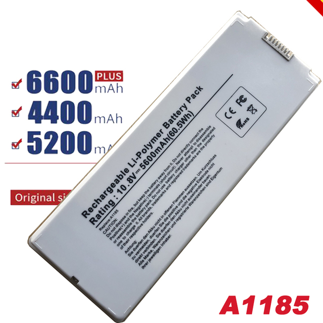 """White Laptop battery A1185 for Apple MacBook 13"""" A1181"""
