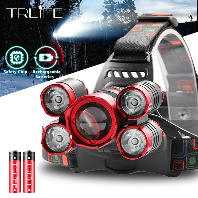 T6 Fishing Lantern LED Headlamp Ultra Bright Zoom Headlight 18650 Head Lamp Torch Rechargeable Forehead Light For Camping