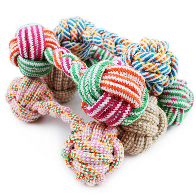 Pet Dog Teeth Clean Rope Play Toys Bone Shape Cotton Rope Chew Toys Rope Toys Pet Dog Grind 21cm Assorted Colors Supply
