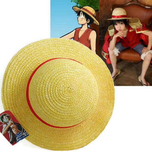 One Piece Luffy Anime Cosplay Canotier Plage Chapeau Halloween hat