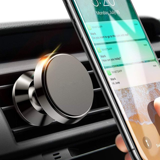 Magnetic Car Phone Holder for iPhone Samsung 360 Air Mount Magnet Holder Stand for Mobile Phone in Car GPS Holders Mount