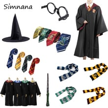 Cosplay Costumes Potter Outfits Magic Robe Cape Suit Hogwarts Uniform Cloak Gryffindor Slytherin Ravenclaw Hufflepuff halloween