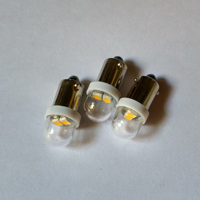 BA9S 2 SMD 3528,LED bulb AC6.3v For pinball with clear cap  game machine