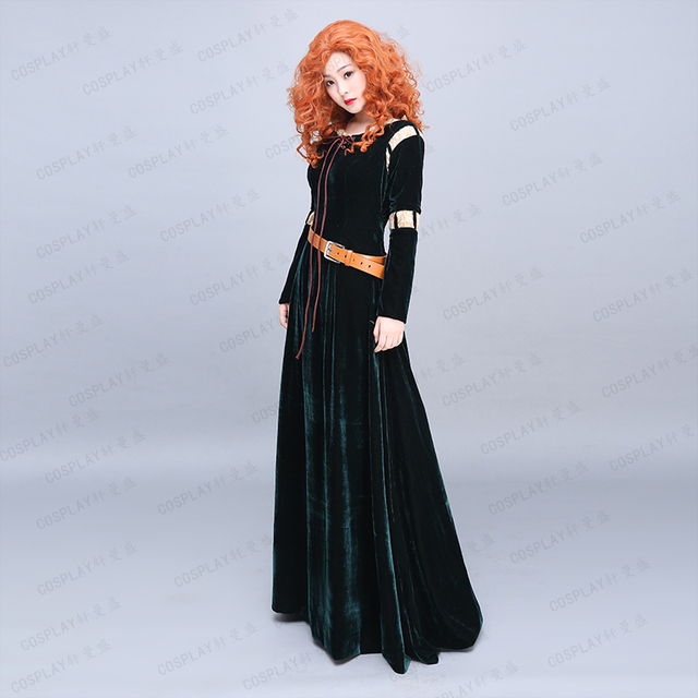 Princess Merida Adult Costume Brave Cosplay Dress Film/Movie Party Halloween Costumes Custom Made