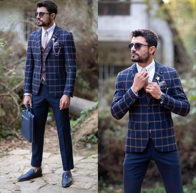 Custom Made Men S Suit 2020 Vintage Plaid Formal Best Man Suits Groom Wear Men S Tweed 3 Piece Suits Jacket Pants Vest Buy Cheap In An Online Store With Delivery Price Comparison Specifications Photos