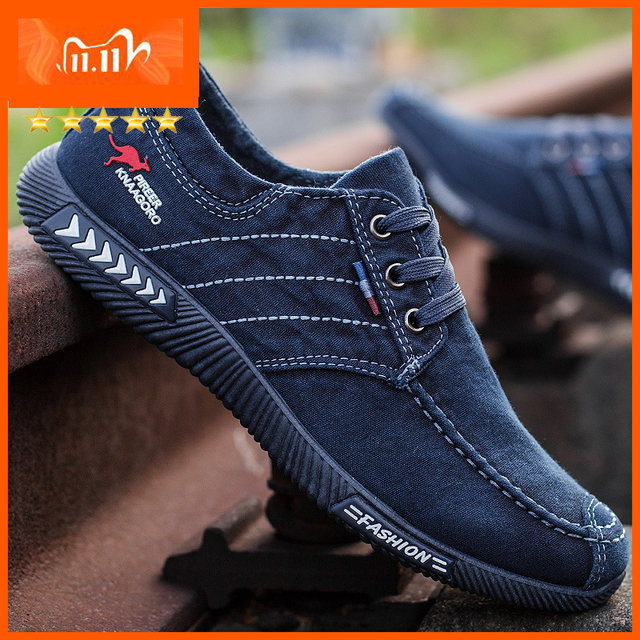 Men shoes 2021 spring men canvas shoes flat casual shoes lace up comfortable breathable shoes man flats size 39 - 44