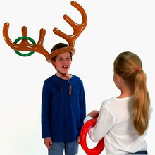 Manufacturers Direct Selling New Style Inflatable Christmas Antlers Throwing Ring Antlers Case Inflatable Sleeve Rings Antlers H