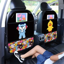Children Anti-kick Mat for Automobile Anti dirt Mat for Car Front Seat Touch Screen Cute Car Seat Back Protectors Anti-kick mats