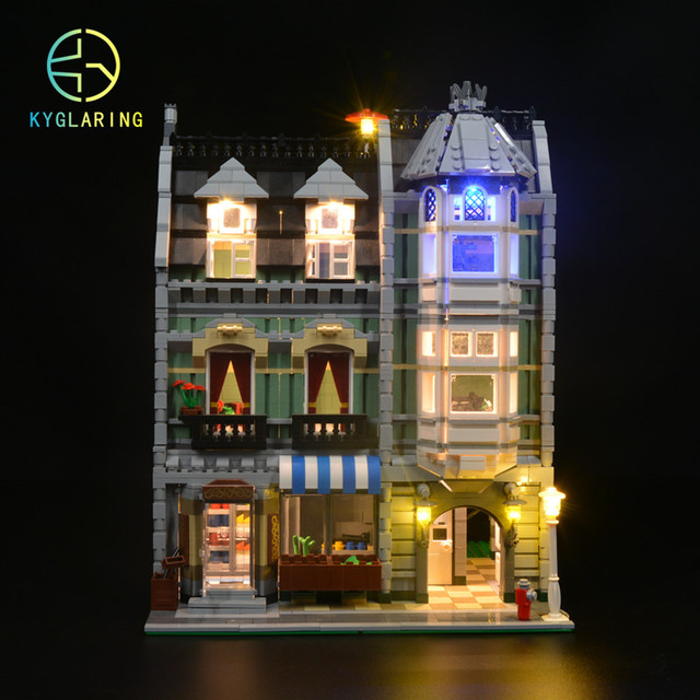 Updated LED light up kit  for 10185 and 15008 Green Grocer (not include  Building Blocks Model) only led light set