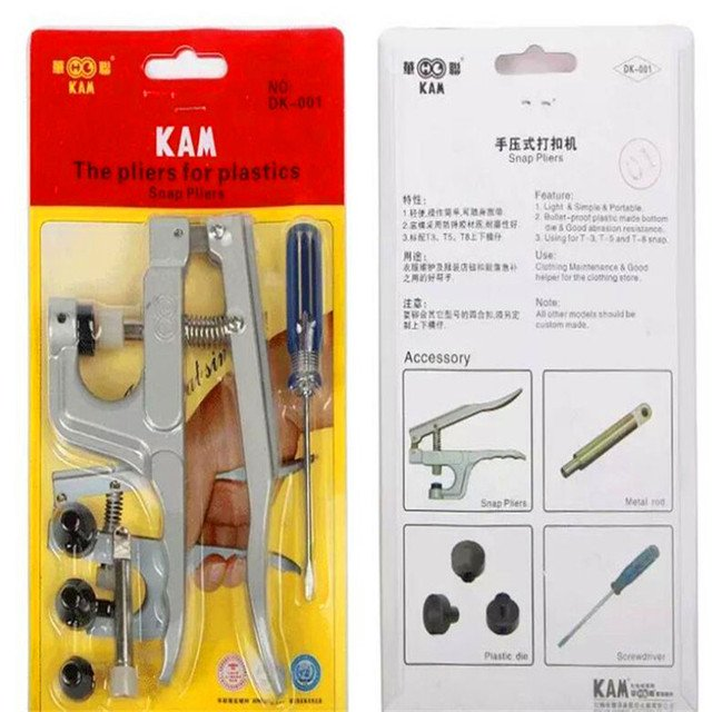 8 Pieces , snaps buttons plier kit snaps Plier button fastener tool clothing maintenance  Accessories K01