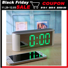 Table Desk Digital clock LED temperature display snooze New home LED electronic clock Mirror clocks with Thermometer