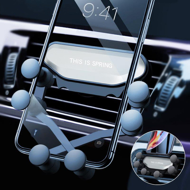 Universal Gravity Car Holder For Phone in Car Air Vent Clip Mount No Magnetic Mobile Phone Holder Stand For Iphone X XS Support